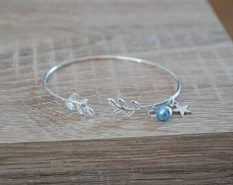 Bangle, ring, sheet, plate silver Bracelet, bridemaids gift