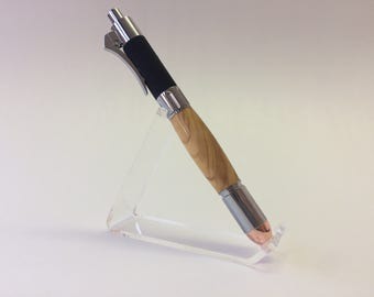 Click ballpoint pen made of olive wood