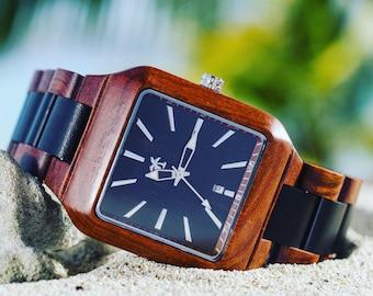 JAMAICA SERIES - Wood Watch, Wooden Watch, Wood Watches, Present, Gift, Wood Watches, Wooden Watches, Beach Lifestyle