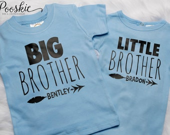 Matching Brother Shirt, Little Brother & Big Brother Shirts, Custom Name Shirts, Brother Shirts, Big Brother Shirt, Matching Shirts P9