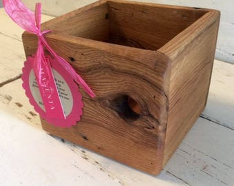 Little Wood Box - Small Crate - Indoor or Outdoor Planter - Kitchen Decor - Bathroom Decor