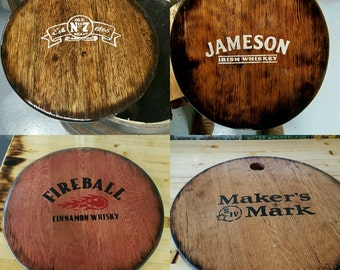 Whiskey Barrel Top Signs