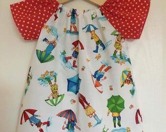 Eliza Dress 6-9m Umbrella Print