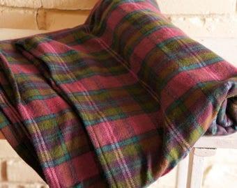 Lady Tartan Flannel Baby Blanket - Receiving Blanket - Nursing Blanket - Purple and Pink Plaid Baby Blanket - Baby Girl Shower Gift