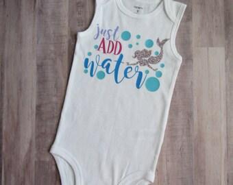 Mermaid Baby Outfit -  Summer Outfit - Mermaid Bodysuit - Mermaid Kids Shirt - Summer Kids Shirt - Mermaid Clothing - Mermaid Baby - Summer