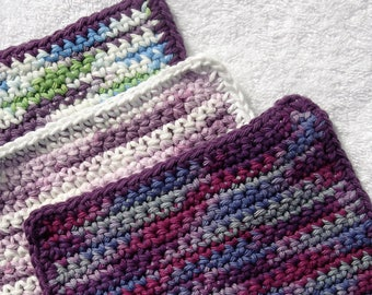 Set of 3 colorful dishcloths