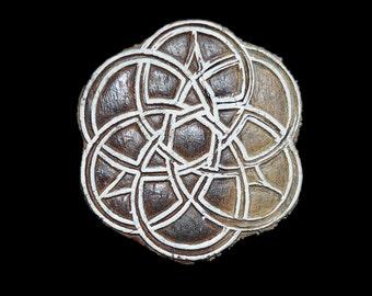 Geometric Pattern Hand Carved Wood Block Stamp, Indian Wooden Block, Block Printing, Decorative Wooden Block