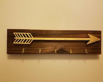 Wood and Metal Arrow Key Holer
