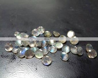 50 pieces 3mm labradorite faceted round gemstone top quality natural labradorite round faceted flashy labradorite loose faceted gemstone