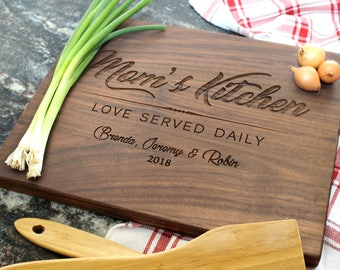 Personalized Cutting Board - Engraved Cutting Board, Custom Cutting Board, Housewarming Gift, Wedding Gift, Engagement, Anniversary (033)