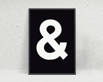 And & Typography Wall Art Print