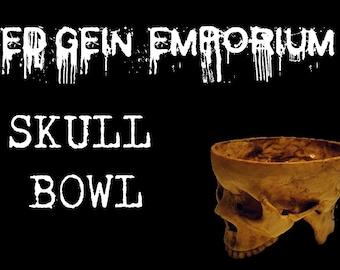 ED GEIN BOWL - Skull Bowl Horror Prop