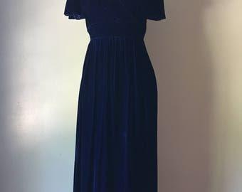 Vintage Bobbie Brooks Mid 1960's Navy Blue Dress. Size 11 Union Made