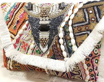 Vintage Banjara Beaded Clutch