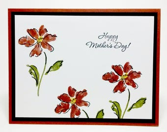 Stampin Up Mother's Day Card, Handmade Mother's Day Card, Greeting Card, Card For Mom, Floral Card