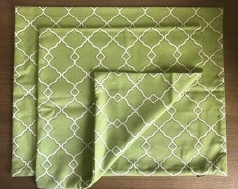 Pillow - Williamsburg Chippendale Fretwork Green Designer Cushion Pillow Cover