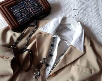 Vintage Plus Size , Vintage Plus Coat , Queene Size Coat , Plus Beige Coat , Plus Refined Taste