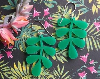 Acrylic Dangle Earrings Large
