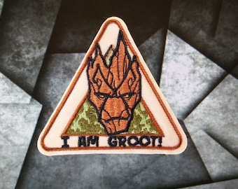 I am Groot Iron On Patch