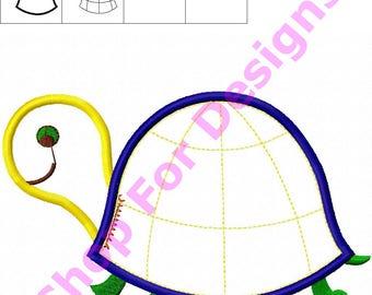 Turtle Applique Embroidery Design