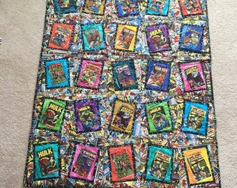 Marvel Superhero Comic Book Oversized Quilt