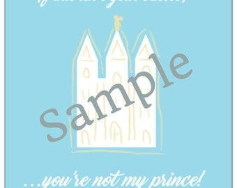 DIGITAL Castle Prince Sign Instant Download Pdf file Temple Lds Yw Young women Lds Quotes