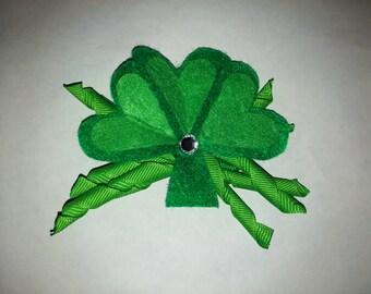 St Patricks Day Clover Hair Clip