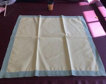 Vintage Blue Bordered Table Linen