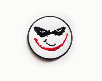 1x JOKER patch Batman The Dark Knight Iron On Embroidered Applique for vest jacket bag halloween Why so Serious