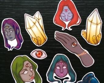 Third eye stickers