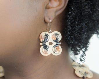Joyfulheads Strength Earrings, Afrocentric earrings, Natural hair earrings, Big earrings