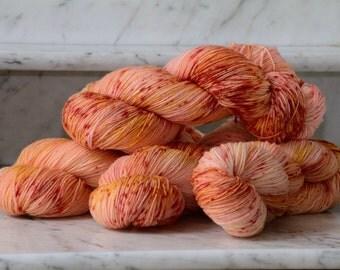 Sherbet Sprinkle Handpainted Superwash Merino Wool 3ply Sock Yarn