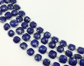"Lapis Lazuli Checker Beads 8-9 mm (ONE 8"" Strand)"