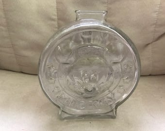Vintage Mickey & Minnie Mouse Glass Bank