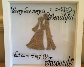 Love story box frame