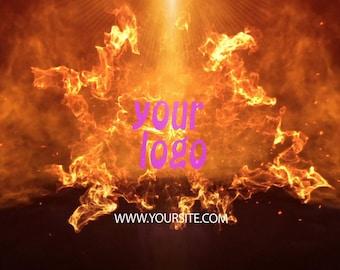 Video Intro or Outro, Flash fire logo