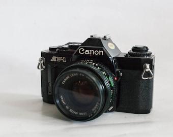 canon av-1 + 50mm 1.8