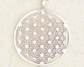 Flower of Life Sterling Silver Pendant Necklace
