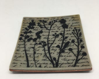 Rubber Stamp / Words and Flowers Cling Stamp / Scrapbooking / Card Making Supplies / Arts & Crafts / Kids Crafts / Cling St