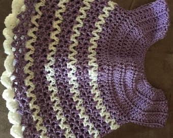 Crochet Baby Dress-24 months