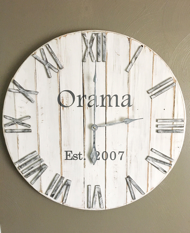 24 Wall Clock Farmhouse Clock Farmhouse Home Decor
