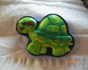 Turtle Ceramic Hand Painted Magnet