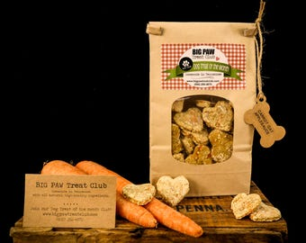 Ships FREE! Carrot Oat Applesauce Dog Treats, Gourmet, Homemade Dog Treats, Dog Biscuits, Gift for Dog Lovers, Healthy Ingredients, Fresh