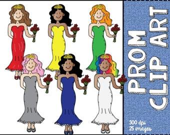 Prom  Girl Clip Art