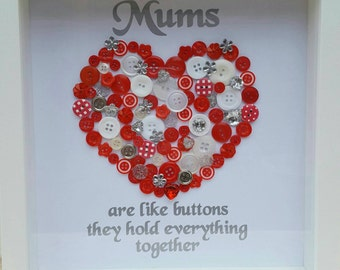 Button 3d frames.... great mothers day gifts.