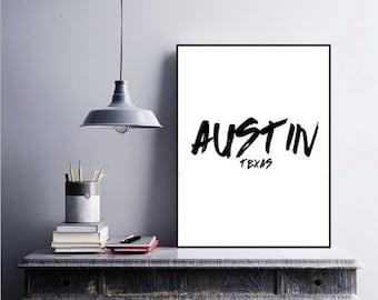Austin, Texas Printable