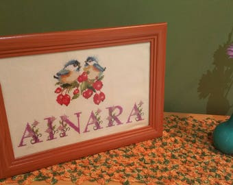 With name - cross stitch chart