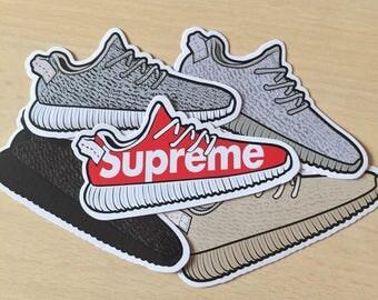 Yeezy Boost 350 Sneaker Shoe Sticker