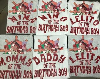Pirate Birthday Custom Family shirts