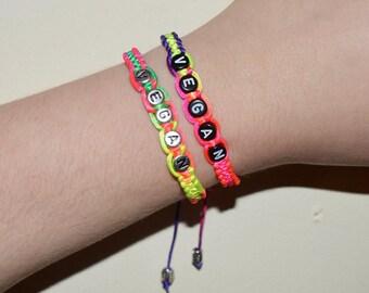 Rainbow Vegan Bracelet